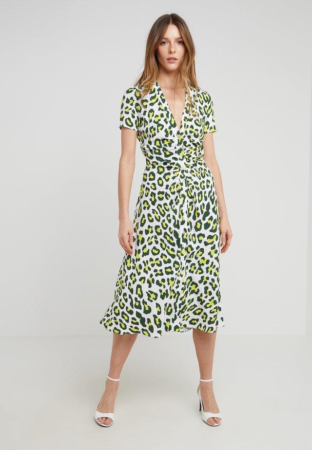 CECILIA - Day dress - summer leopard sulfur