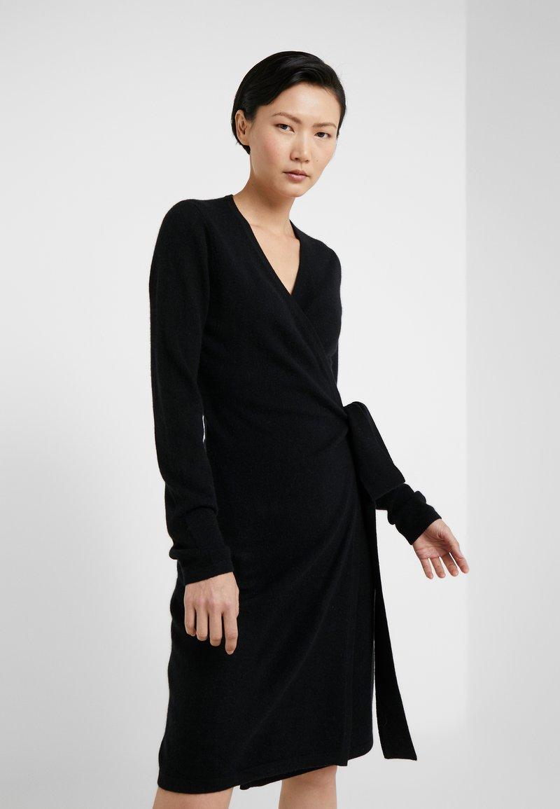 Diane von Furstenberg - NEW LINDA WRAP DRESS - Jumper dress - black