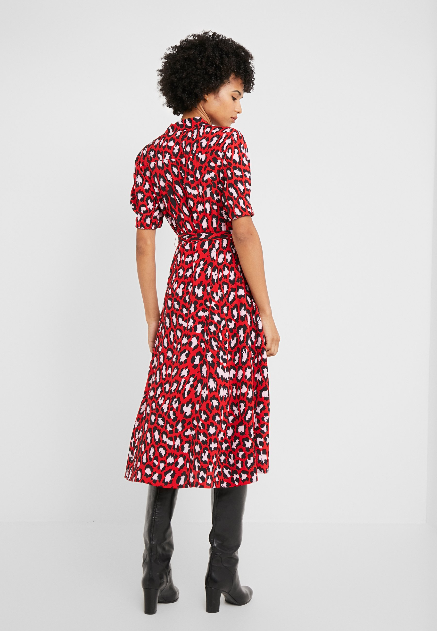Diane von Furstenberg EXCLUSIVE DRESS - Skjortklänning - red leopard