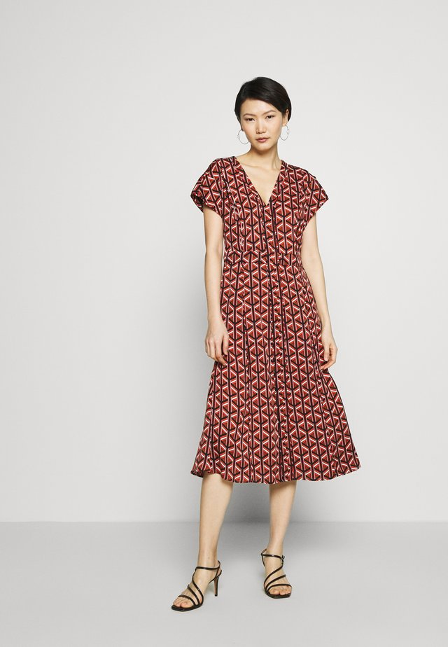 DVF DAVINA - Day dress - geo tiles