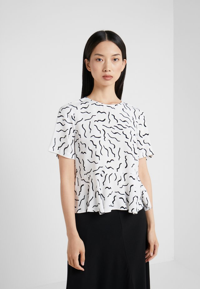 ORILLA - Blus - abstract lines white