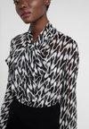 Diane von Furstenberg - TINA - Button-down blouse - empire houndstooth ivory