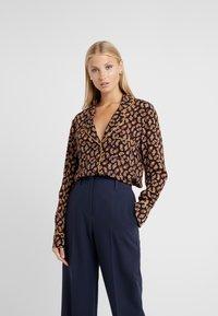 Diane von Furstenberg - HALSEY - Button-down blouse - black/multi - 0