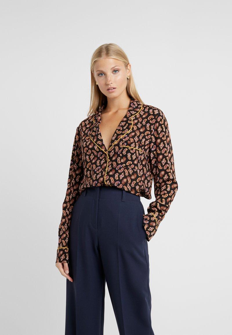 Diane von Furstenberg - HALSEY - Button-down blouse - black/multi