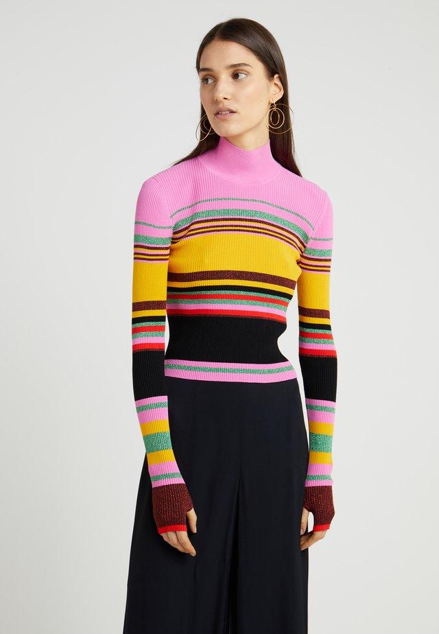 DARA - Stickad tröja - bubblegum/multi