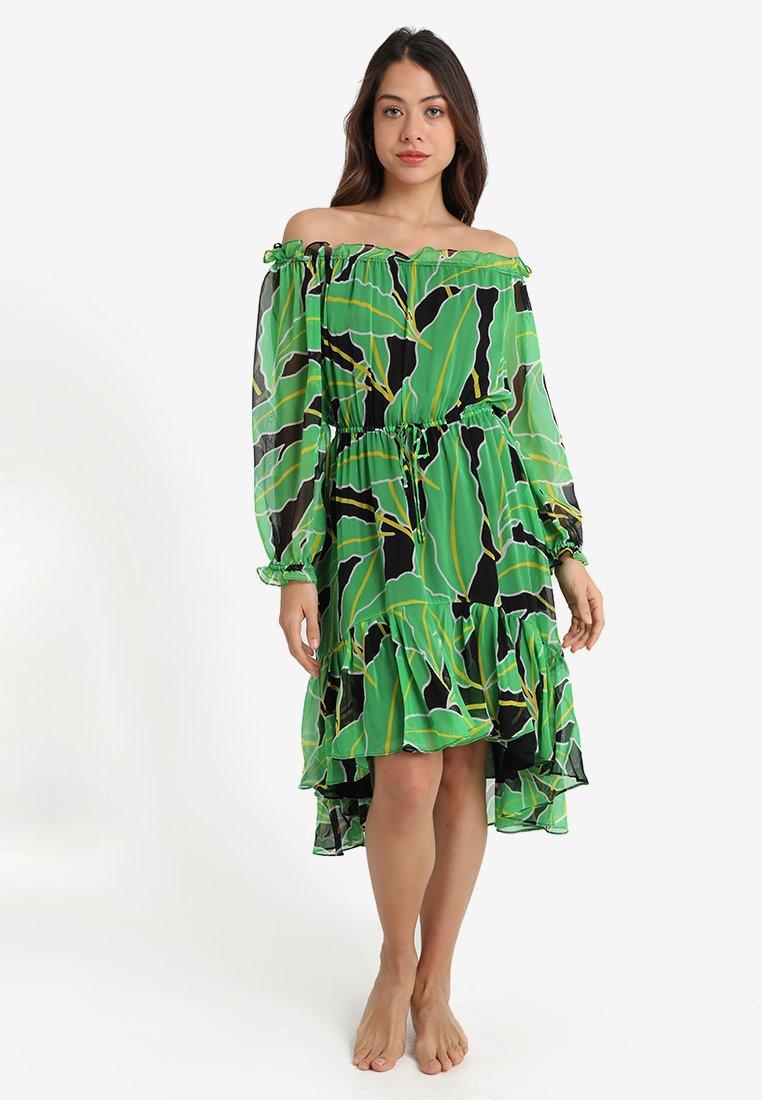 Diane von Furstenberg - CAMILLA DRESS - Strandaccessoire - green/black