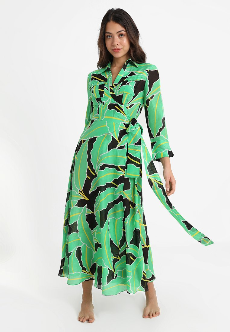 Diane von Furstenberg - FLOOR LENGTH COLLARED WRAP DRESS - Strandaccessoire - windsor vetiver