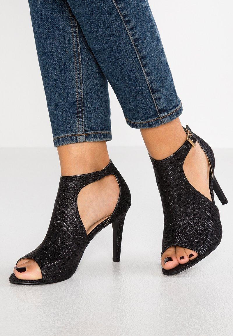 Divine Factory - Højhælede sandaletter / Højhælede sandaler - black glitter