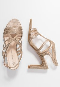 Divine Factory - Sandály na vysokém podpatku - gold - 3