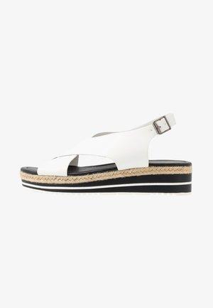 Sandalias con plataforma - blanc