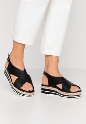 Sandales à plateforme - noir