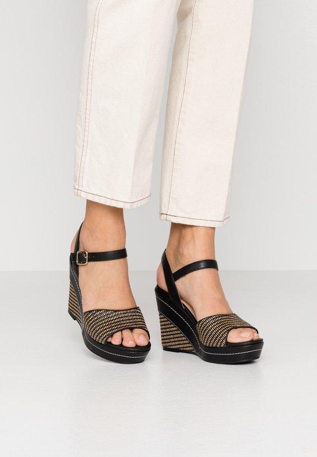 High Heel Sandalette - noir