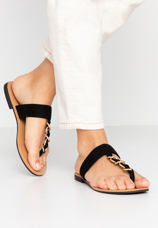 Sandaler m/ tåsplit - noir