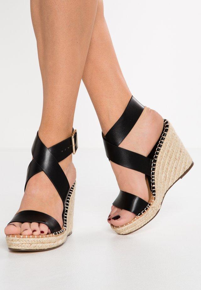 Sandály na vysokém podpatku - noir