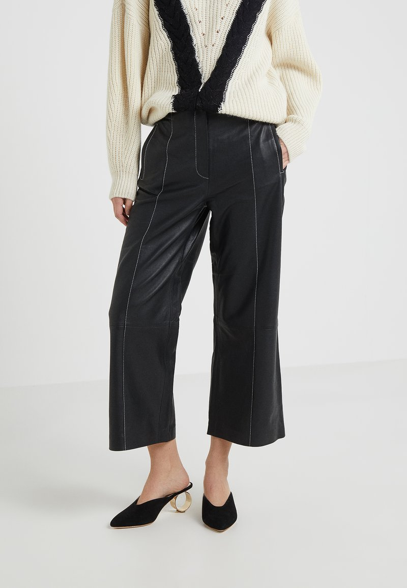 House of Dagmar - ANNA - Leather trousers - black