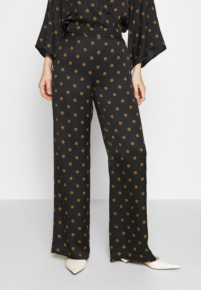 EBBA - Trousers - black print