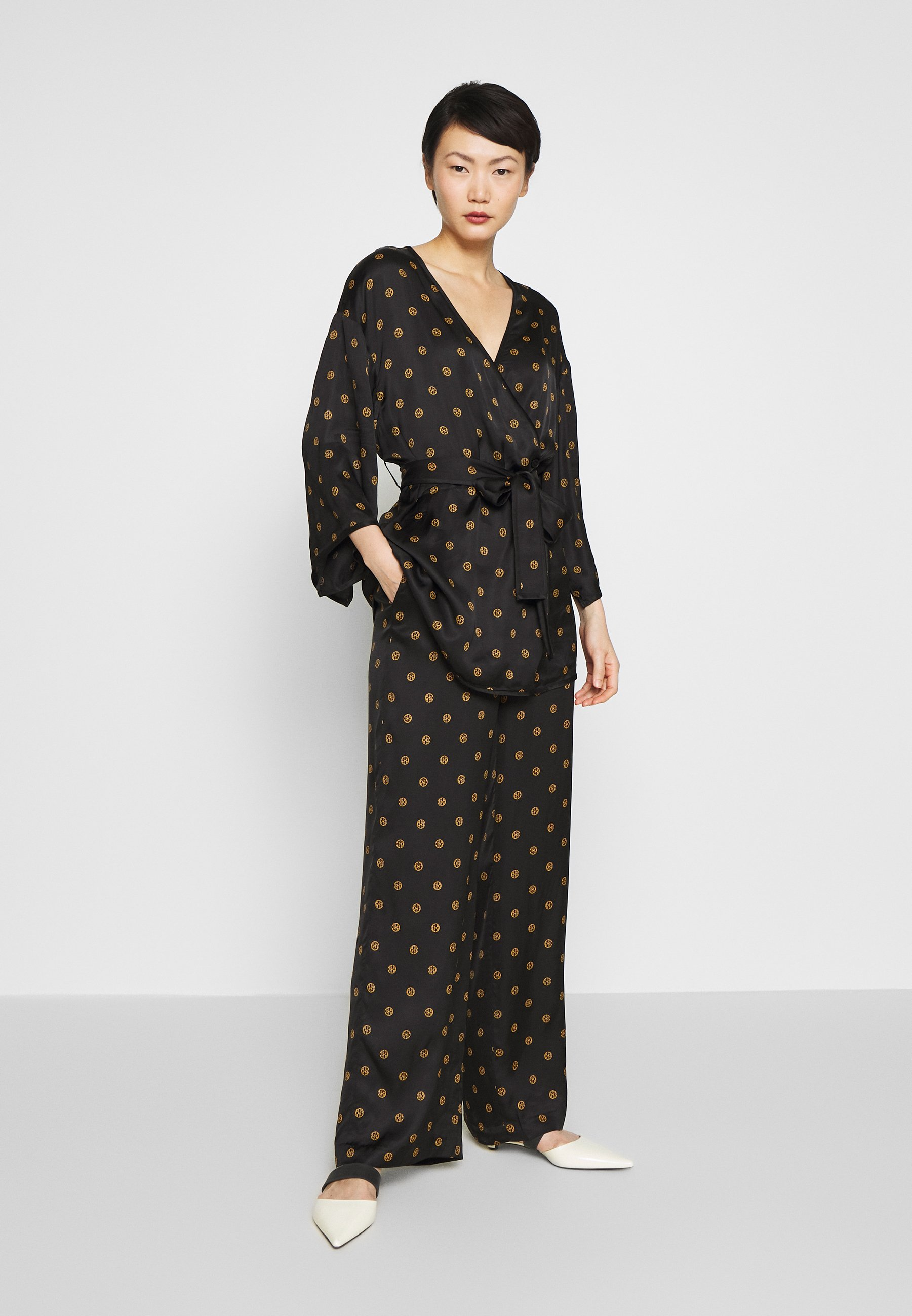 House of Dagmar EBBA - Broek - black print