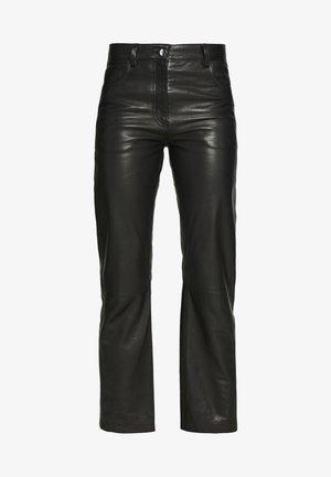 NAOKO - Spodnie skórzane - black