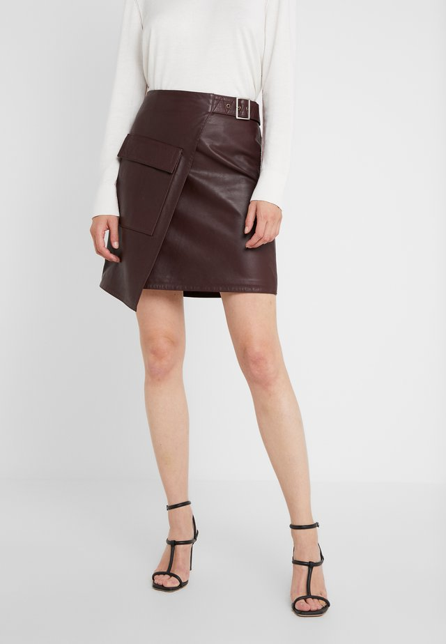 ALMA - Wrap skirt - burgundy