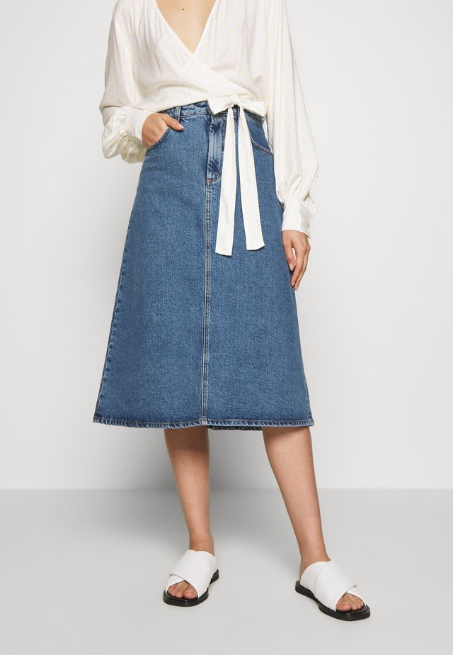 ALESSANDRA - A-line skirt - washed blue