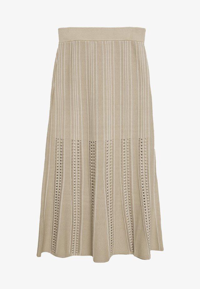 RHONDA - A-snit nederdel/ A-formede nederdele - sand
