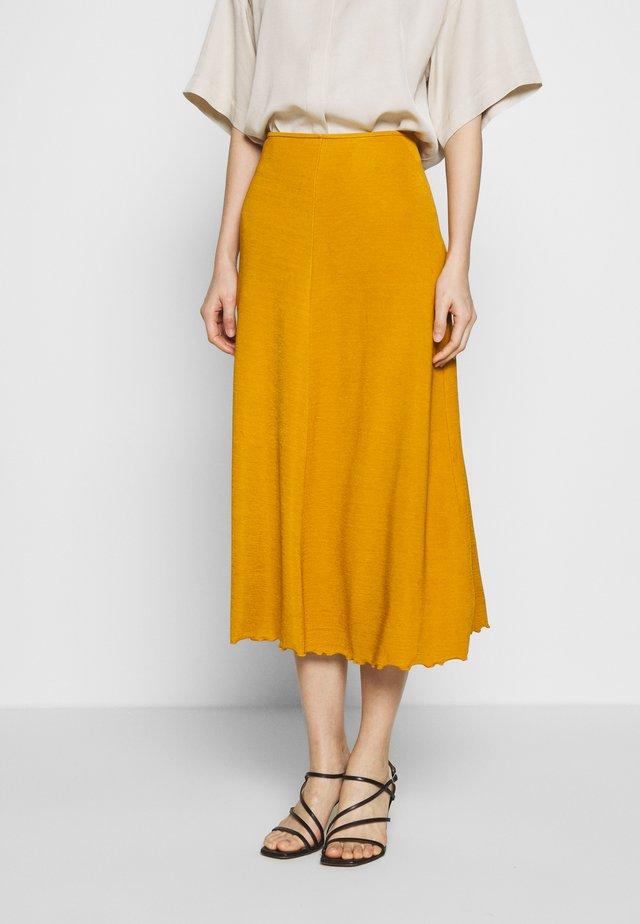 YORI - A-line skirt - caramel