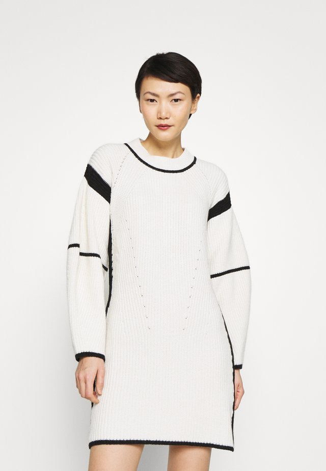 MOMO - Jumper dress - black/white