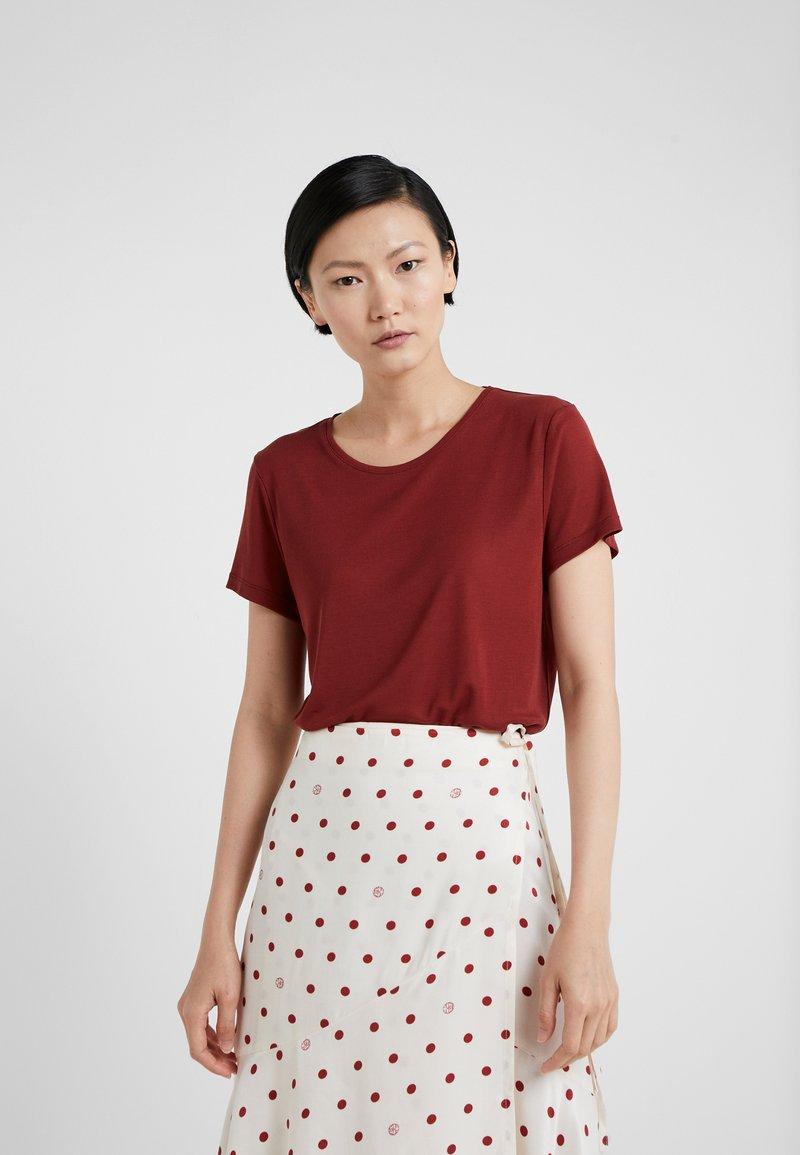 House of Dagmar - UPAMA - Basic T-shirt - burgundy