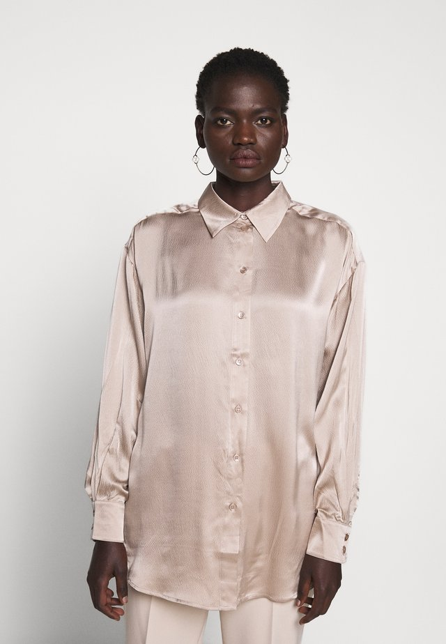 GINA - Button-down blouse - sand