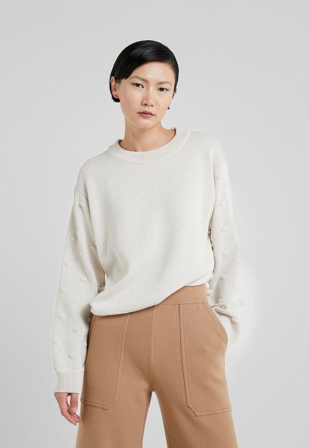 ZELDA - Stickad tröja - offwhite