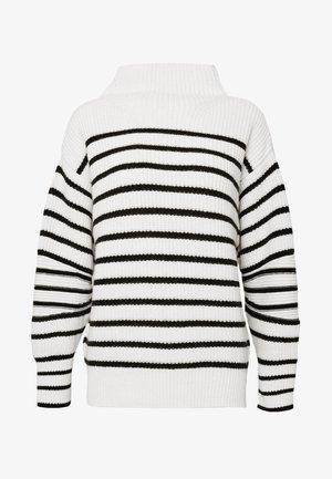 MAEMI - Sweter - black/white