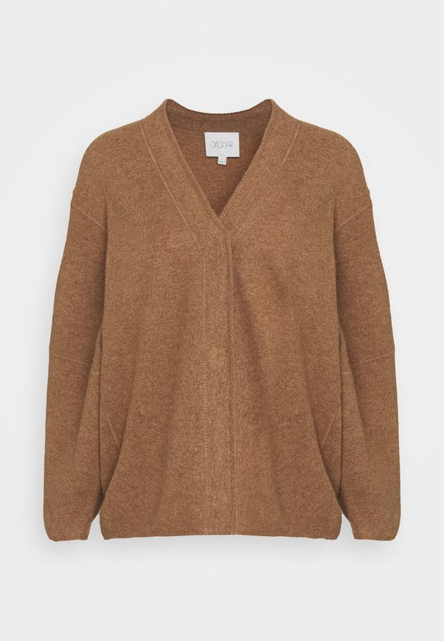 BEA LONG - Cardigan - camel