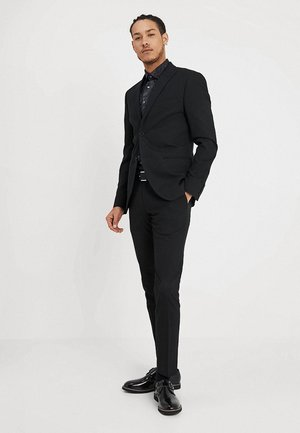 BASIC PLAIN SUIT SLIM FIT - Puku - black