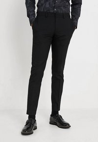 Isaac Dewhirst - BASIC PLAIN SUIT SLIM FIT - Kostuum - black - 4
