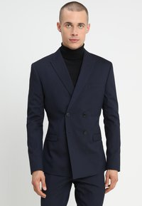 Isaac Dewhirst - DOUBLE BREASTED PLAIN SLIM FIT SUIT - Garnitur - navy - 2