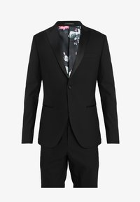 Isaac Dewhirst - BASIC PLAIN BLACK TUX SUIT SLIM FIT - Oblek - black - 10