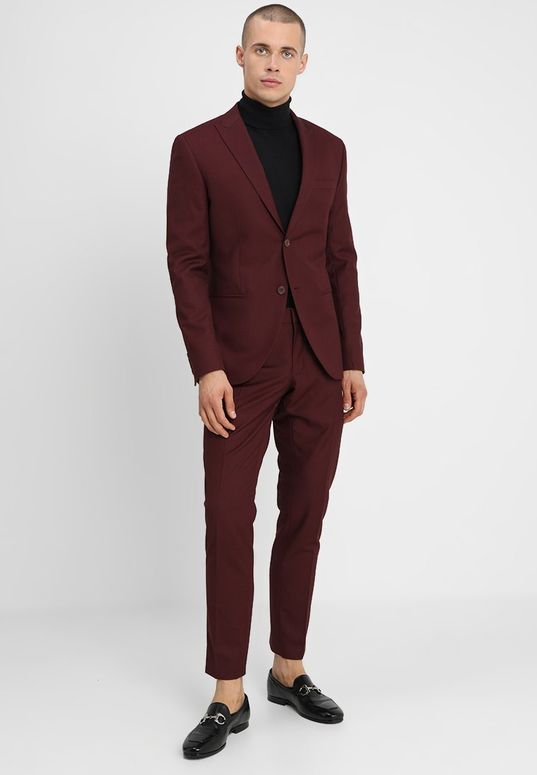 Isaac Dewhirst - FASHION SUIT SLIM FIT - Dress - bordeaux