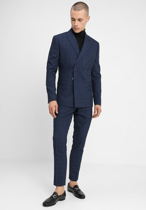 FASHION CHECK SUIT - Suit - navy