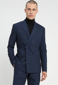 Isaac Dewhirst - FASHION CHECK SUIT - Completo - navy - 2