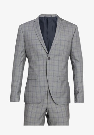 FASHION CHECK SUIT SLIM FIT - Completo - grey