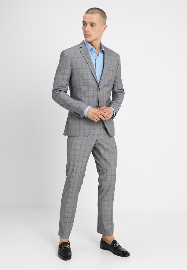FASHION CHECK SUIT SLIM FIT - Suit - grey