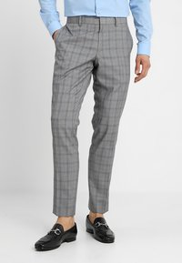 Isaac Dewhirst - FASHION CHECK SUIT SLIM FIT - Suit - grey - 4