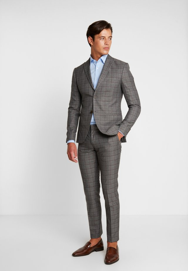 FASHION SUIT CHECK - Suit - grey