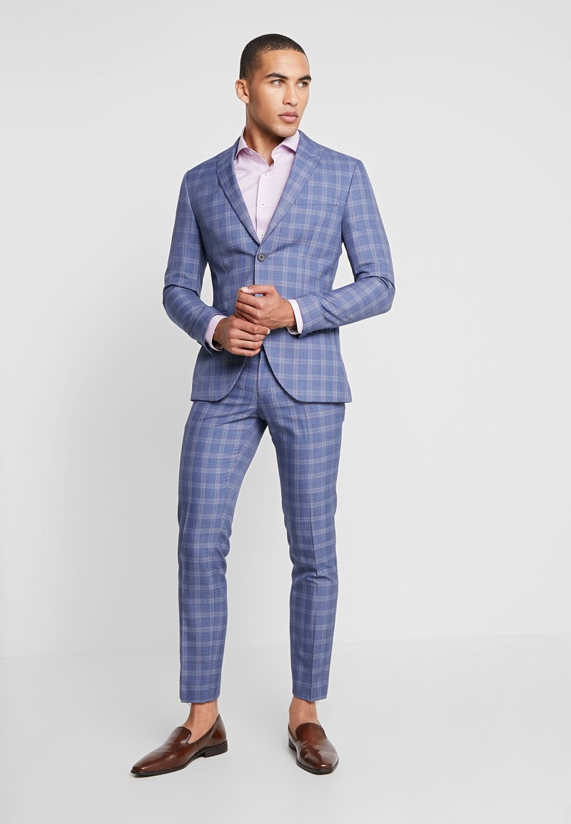 Isaac Dewhirst - FASHION SUIT CHECK - Traje - navy