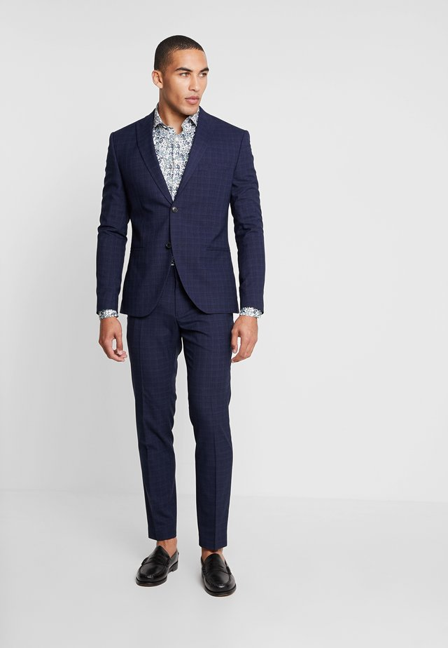 FASHION STRUCTURE SUIT  - Anzug - navy