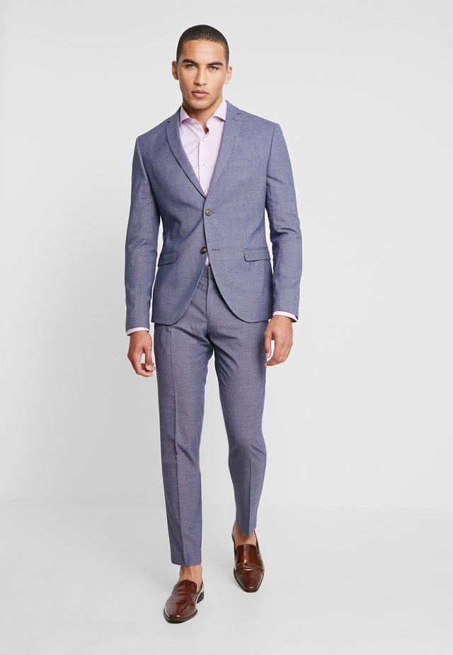 FASHION STRUCTURE SUIT - Kostym - blue