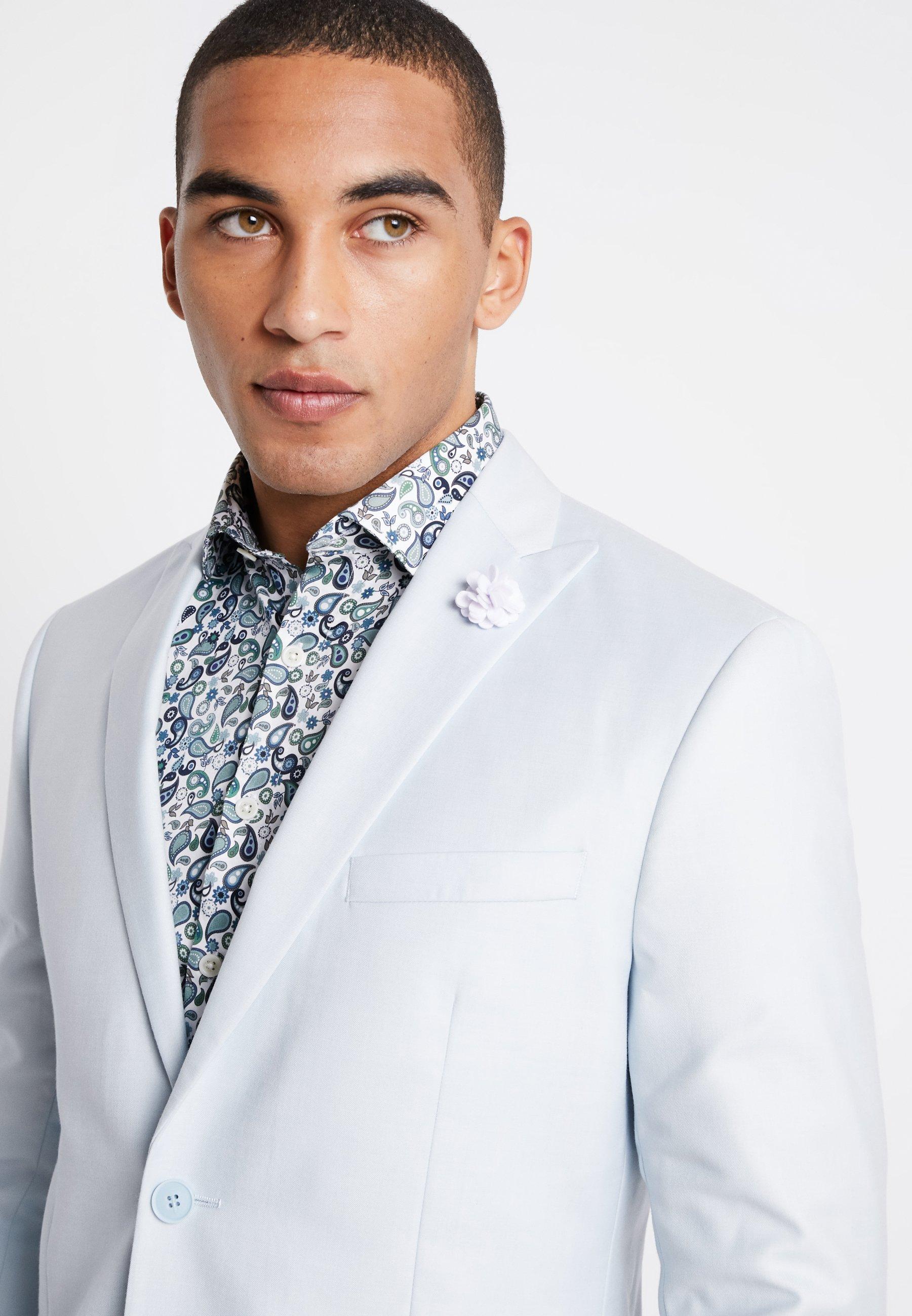 PaleCostume Light Wedding Blue Isaac Dewhirst Suit m6gyv7YfbI