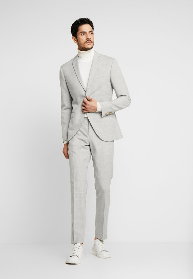 NEUTRAL CHECK SUIT - Anzug - light grey