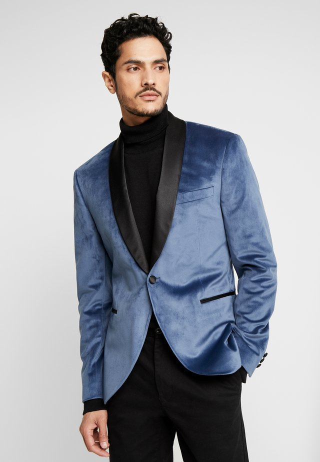 TUX JACKET - Marynarka garniturowa - dusty blue
