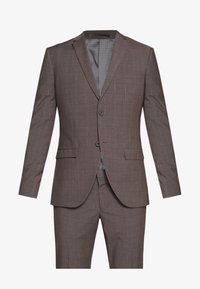 Isaac Dewhirst - CHECK SUIT - Completo - brown - 10
